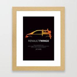 Retour vers le futur - Twingo Framed Art Print