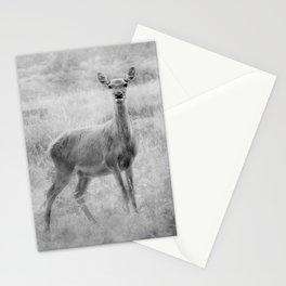 Doe A Deer A Female Deer, In Mono Stationery Cards