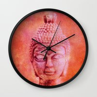 buddha Wall Clocks featuring Buddha by LebensART