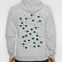 Triangles Mint Grey Hoody