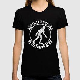 Reptilian Agenda Resistance Lizard People Conspiracy Theory design T-shirt