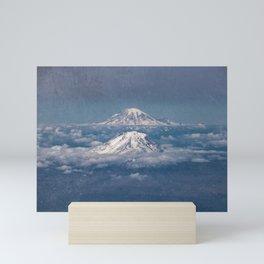 Mount Adams Mt Rainier - PNW Mountains Mini Art Print