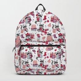 Hygge raccoon // white background Backpack