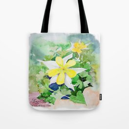 WXTX Columbine Texas Star Flower Tote Bag