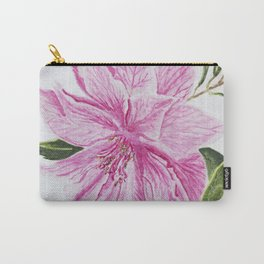 Pink Garden Bloom Watercolour Carry-All Pouch