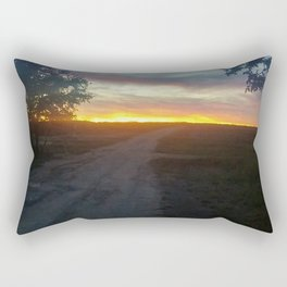 texas farm road  Rectangular Pillow