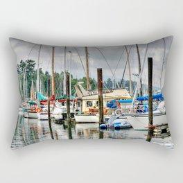 Vancouver Boat Harbor Rectangular Pillow