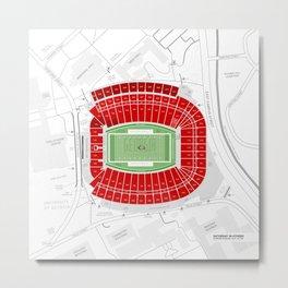 Stadium Traditions: Saturday in Athens (Sanford Stadium) Metal Print