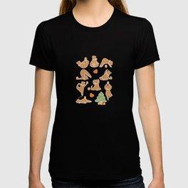 Christmas cookie yoga T-shirt