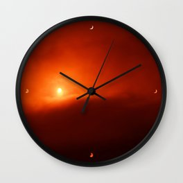 Solar Eclipse over Somerset, 2015 Wall Clock