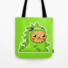 8bit Dinobear Tote Bag