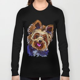 The cute smiley Yorkie love of my life! Long Sleeve T-shirt