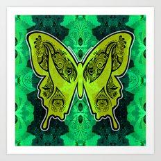 Henna Butterfly No. 4 Art Print