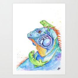 Here be Dragons Art Print