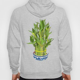 Lucky Bamboo in Porcelain Bowl Hoody