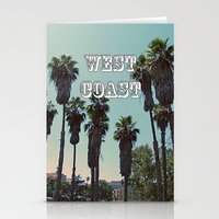 west coast Stationery Cards featuring West Coast by Romeo & Rebeccah