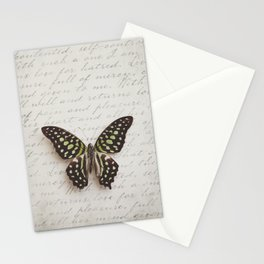 Graphium agamemnon butterfly Stationery Cards