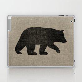 Black Bear Silhouette Laptop & iPad Skin