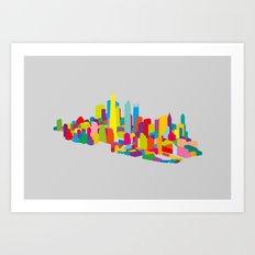 New WTC Isometric Art Print