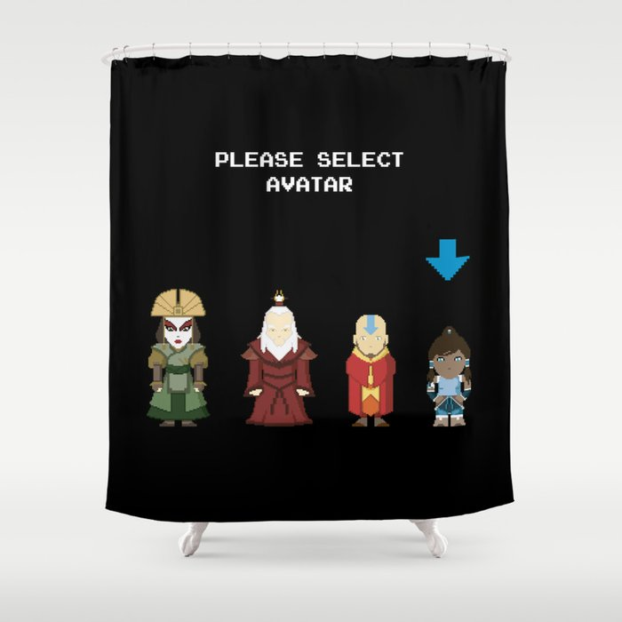 Avatar Selection Screen Shower Curtain