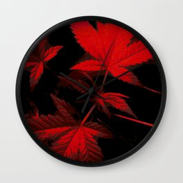 DaPlant - Red --- #GREENRUSH Wall Clock