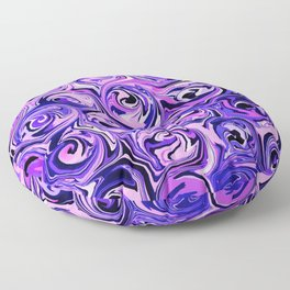 Violet and Lilac Paint Swirls Floor Pillow