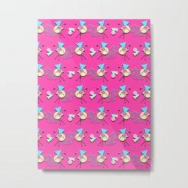 80s Flamingos Metal Print