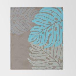 Hawaiian leaves pattern N0 2, Art Print collection, illustration original pop art graphic print Throw Blanket