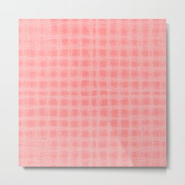 woven cables, pink Metal Print