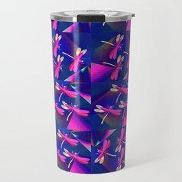 Dragonflies Pink QQ Travel Mug