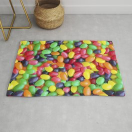Jelly Bean Candy Photo Pattern Rug