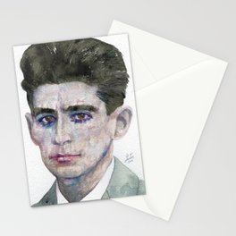 FRANZ KAFKA - watercolor portrait Stationery Cards
