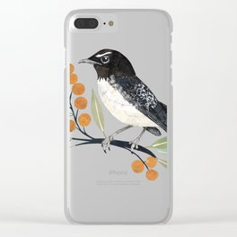 Willy Wagtail 2 Clear iPhone Case