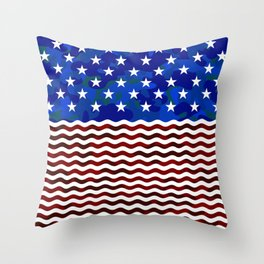 Stars & Waves (Camouflage) Throw Pillow