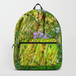 Flowers at the lake Backpack
