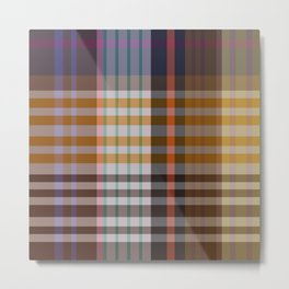 Vintage Plaid Metal Print