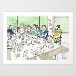 Summer Meeting Art Print