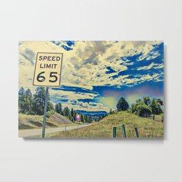 Drive 65 Metal Print