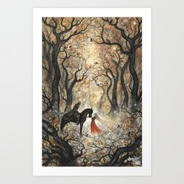 Two Autumns Art Print