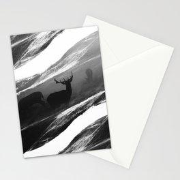 Oh Deer Black Stationery Cards