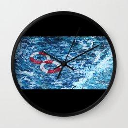 Two Lifesavers Wall Clock