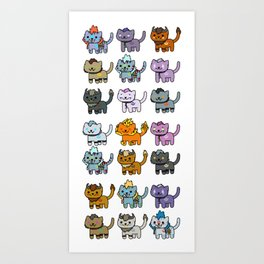 Neko Atsume Feral Druid all races Art Print