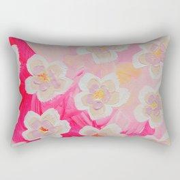 Pink Orchard Rectangular Pillow