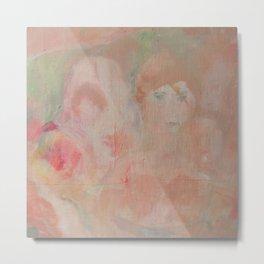 soft garden pink Metal Print