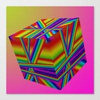 rap Canvas Prints featuring rainbow rap by Mango Katz