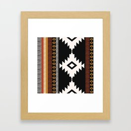 Pueblo in Sienna Framed Art Print