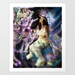 Queen of Unicorns Art Print