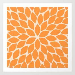 Sherbet Chrysanthemum Art Print