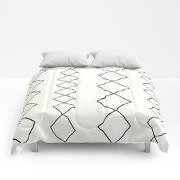 Moroccan Diamond Stripe in Black and White Comforters