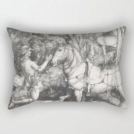 Albrecht Dürer - Saint Eustace (1501) Rectangular Pillow